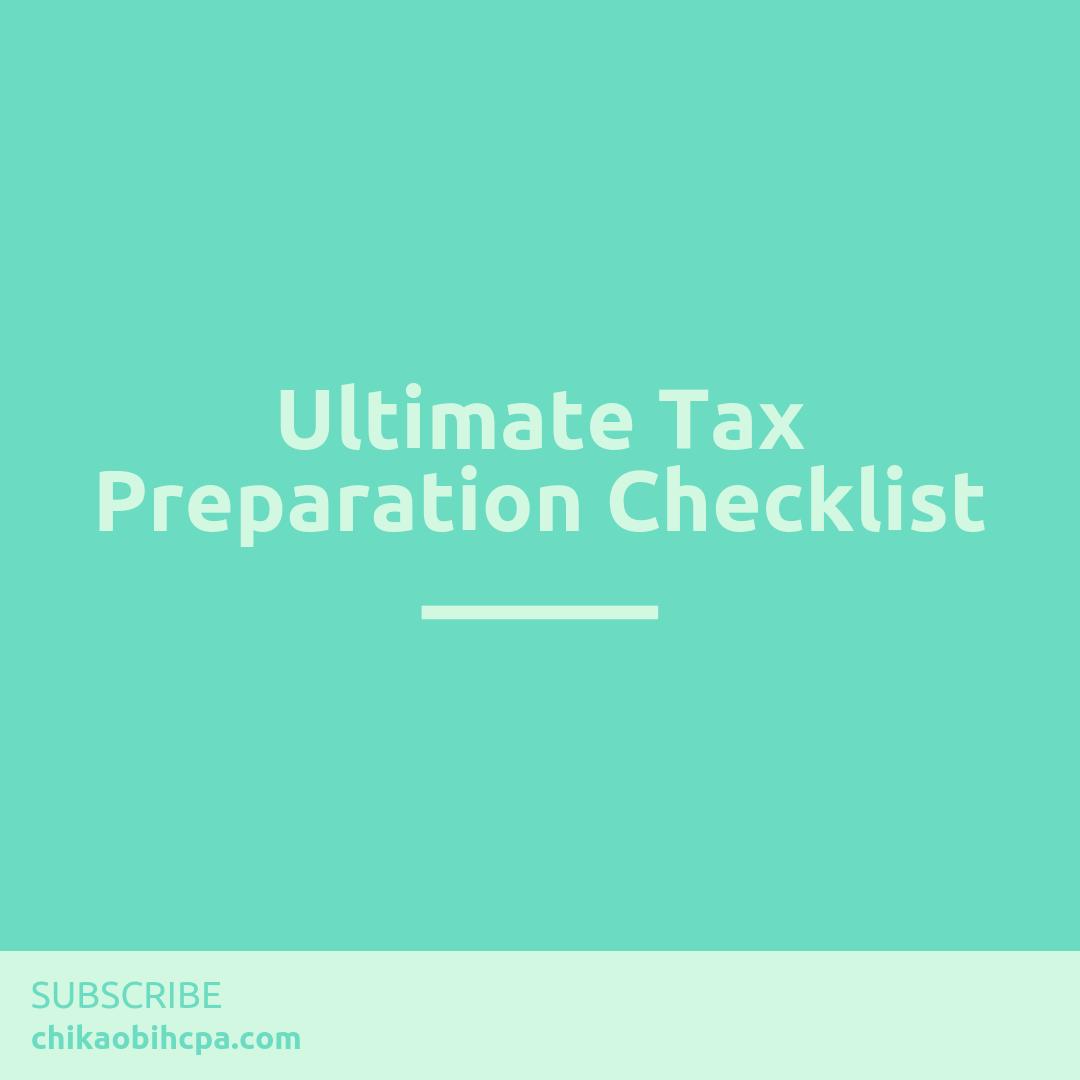 Ultimate Tax Preparation ✅list