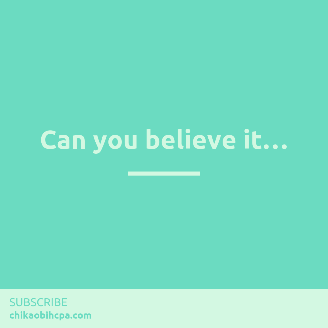 Can you believe it…