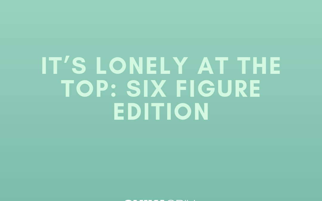 It's Lonely at the Top: Six Figure Edition